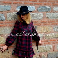 Plaid Mini Dress (Ekose Mini Elbise)
