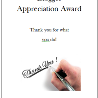 Blogger Recognition Award & Blogger Appreciation Award
