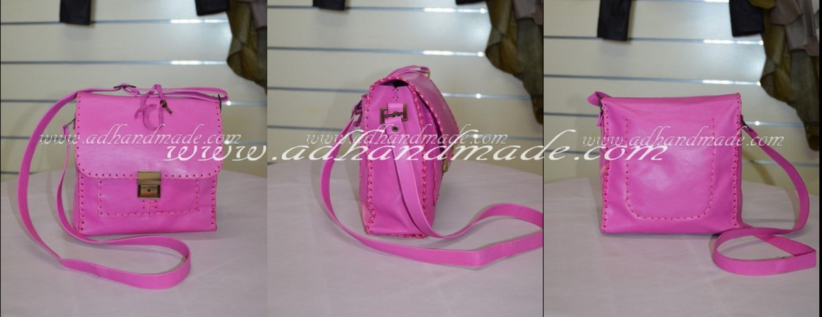 Pink Leather Bag...NOW ON SALE... (Pembe Deri Çanta Şimdi Satışta)